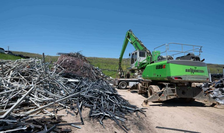 Scrap metal recycling to help with the construction of rebar for industries.